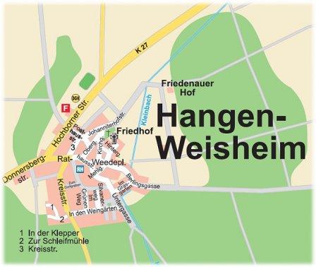 Ortskarte Hangen-Weisheim