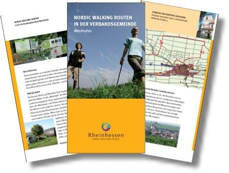 Broschüre Nordic Walking Routen in der Verbandsgemeinde Westhofen